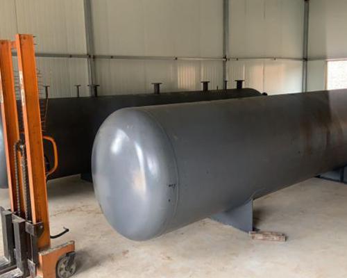 运城玻璃厂待装的制气设备